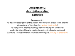 Creating characters and atmosphere (vocabulary)