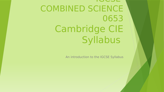 Combined Science 0653 2017-2018 Syllabus
