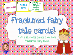 Fractured Fairy Tale Cards!