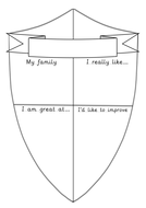 This is me shield activity   teaching resources.