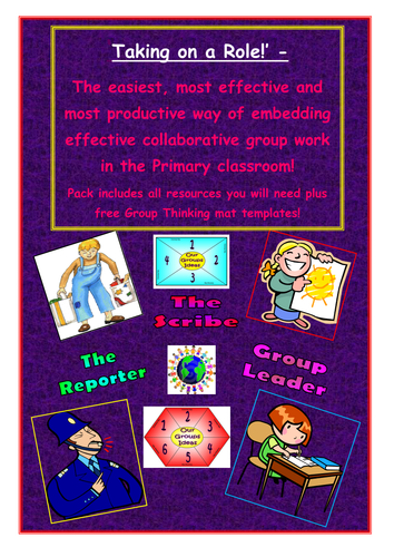 Collaborative Teaching Resources : Collaborative learning taking on a role group work by