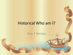 End of year revision game- who am I?