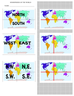 Create a Continent-Hemisphere Booklet