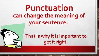 Punctuation summarised - powerpoint/display