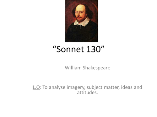 shakespeare sonnet 130 by nicky s 96 uk teaching resources tes. Black Bedroom Furniture Sets. Home Design Ideas