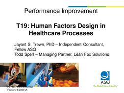 Introduction to Human Factors in Healthcare
