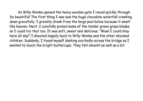 The Chocolate Room' powerful descriptive writing. Charlie and the ...