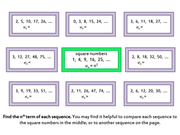Quadratic Sequences by Comparison