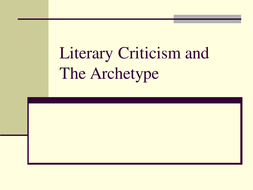 Literary Criticism and the Archetype