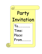 Party invite for independent writing.doc