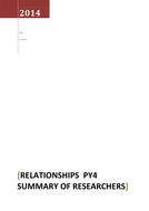 Relationships Psychology Alevel