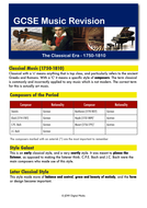 Classical Music - Revision Guide