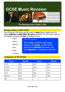Baroque Music - Revision Guide