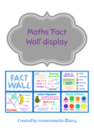 Math Fact Wall display pack