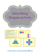Describing shapes game / competition
