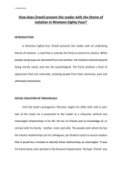 Essay The Theme Of Isolation In  By George Orwell By  Essay The Theme Of Isolation In  By George Orwell Example Of Thesis Statement For Essay also Essay English Example  I Need Help Writing A Literature Review