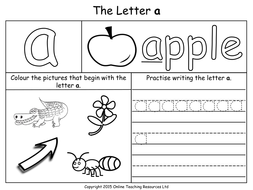 Letters of the Alphabet Teaching Pack - 24 PowerPoint presentations ...
