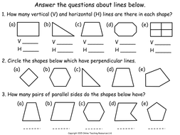 Geometry - Properties of Shapes Teaching Pack - 4 PowerPoint presentations  and worksheets