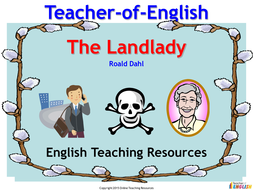 The Landlady by Roald Dahl - PowerPoint presentation and worksheets