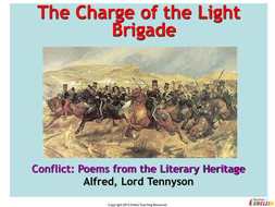 The Charge of the Light Brigade (Alfred Lord Tennyson) - PowerPoint presentation and worksheets