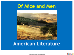 Of Mice and Men - PowerPoint and worksheets
