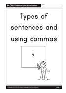Types of Sentences and Using Commas