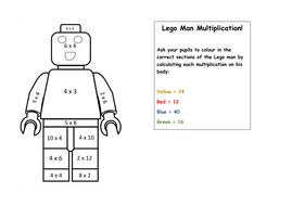 Lego Man Multiplication By Lottie1204