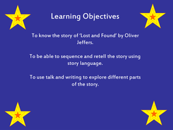 Lost and Found by Oliver Jeffers Creative English Lesson Plan