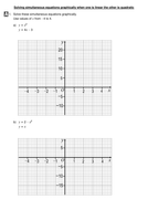 Solving Simultaneous Equations Graphically When One Is Linear And