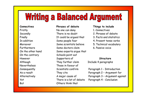 how to write the argument