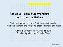 Periodic table fun worder including atomic numbers and other periodic table fun worder including atomic numbers and other activities urtaz Image collections