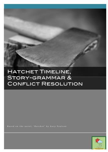 Hatchet ~ Timeline, Story-Grammar, Conflict Analysis + ANSWER KEY *FREE!*