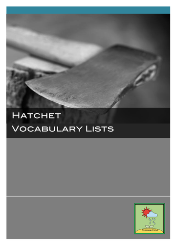 Hatchet - Vocabulary Lists ~ Chapter-by-chapter