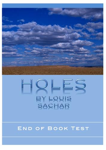 HOLES ~ Book Test + ANSWER KEY