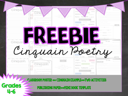 FREEBIE - Cinquain Poetry
