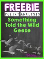 FREEBIE - Something Told the Wild Geese