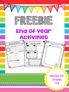 FREEBIE - End of the Year Activities