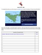 Map Activity:  World War I
