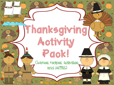 TESgiving Stuffing: Thanksgiving Activity Pack- Games, Recipes, Activities and More!