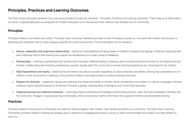 emergent curriculum templates eylf links and supporting research by