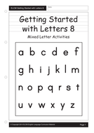 Letters go together to make words (29 pages)