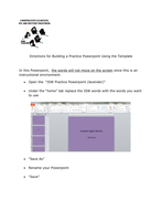Teacher Resource  to Build Fluency Drill for Specialized Vocabulary