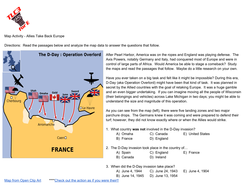 Map activity world war ii d day operation torch by tlc34e map activity world war ii d day operation torch gumiabroncs Images