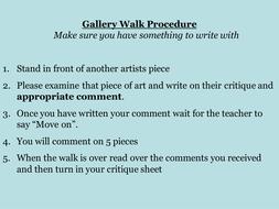 Critique: Gallery Walk