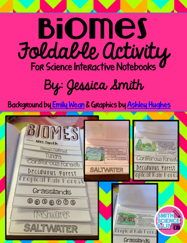 Featured Author Jessica Smith Biomes Flip Book Activity