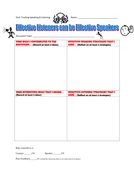 Speaking and Listening Discussion Tracking Organizer