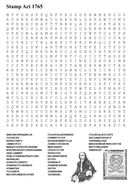 Stamp Act 1765 Word Search