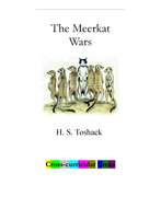 H.S. Toshack's 'The Meerkat Wars': Cross-curricular Links