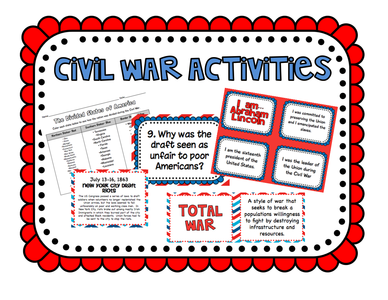 Gettysburg Collection: United States Civil War Activities Pack: Perfect for Interactive Notebooks