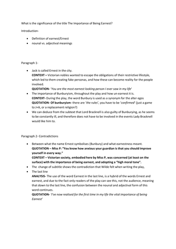 Comedy Of Errors Worksheet : Quot the importance of being earnest oscar wilde by jonmonk